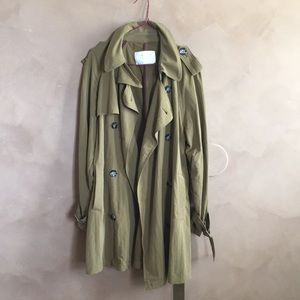 Zara olive green trench coat